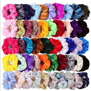 Accessories - 1 for $4 or 3 for $8 Velvet & Chiffon Scrunchies